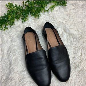 Halogen 100% Leather Convertible Slip On Loafers